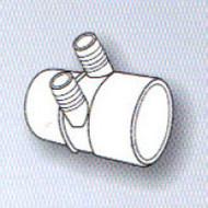 "2"" Slip x ? 2-Port 3/4"" Barbed Water Manifold Spa Hot Tub"