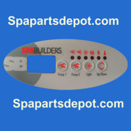 Gecko / Spa Builders 4 Button (Overlay Only) TSC/ K-9 3-05-7106
