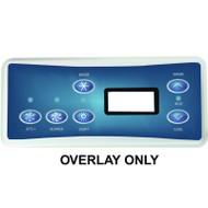 HydroQuip / Balboa Overlay Label, VL701S, P1/BL/LT, Part # 80-0227A