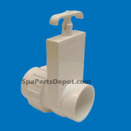 "Magic Plastic Slice Valve 2"" slip x slip Union, Uni-Body - 0516-20"
