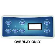 HydroQuip / Balboa Overlay Label, VL701S, P1/P2/AUX/LT, Part # 80-0227C
