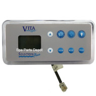Vita Spa Control Panel, 8 Button, L500/LC500