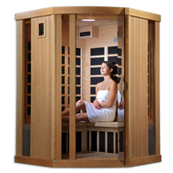 Ultra Low EMF Infared 3 Person Corner Sauna - GDI-6365-01