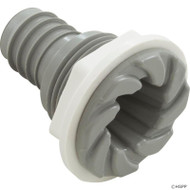 "Bulkhead Fitting, Waterway, 3/4""b, Swirl, Gray - 212-1837"