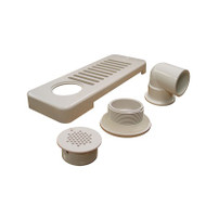 SKIMMER: WITH WALL FITTING, 90 NUT, WHITE, PART # 10-6509
