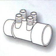 "2"" Slip x ? 4-Port 3/4"" Barbed Water Manifold Spa Hot Tub"