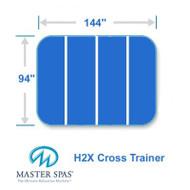 "Master Spas 94"" X 144"" H2X Swim Spa Cover Four Piece Cross Trainer 2"
