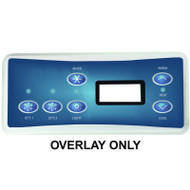 HydroQuip / Balboa Overlay Label, VL701S, P1/P2/LT, Part # 80-0227B