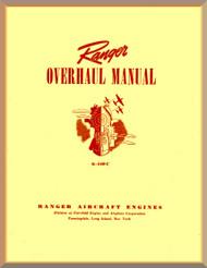 Ranger 6-440 C -2 -3 -4 -5   Aircraft Engine  Overhaul Manual  ( English Language )