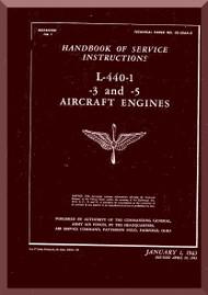 Ranger L-440 C -1 -3 -5   Aircraft Engine  Maintenance Manual  ( English Language )