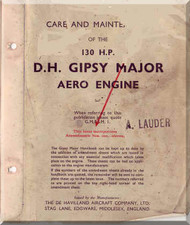 De Havilland  Major 130  H.P. Aircraft Maintenance and Overhaul t Manual  ( English Language )