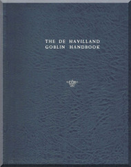 De Havilland  Goblin Aircraft Jet Engine Handbook Manual  ( English Language )