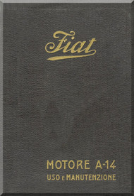 FIAT Motori  A.14 Aircraft Engine Maintenance  Manual,    ( Italian Language )