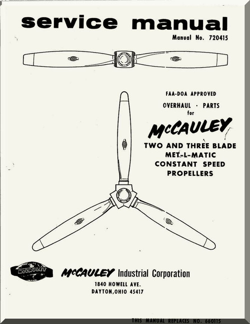 McCauley MET-L-MATIC Two and Three Blade Propellers