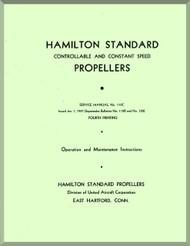 Hamilton Standard Constant Speed Aircraft Propeller Service Manual - 110C