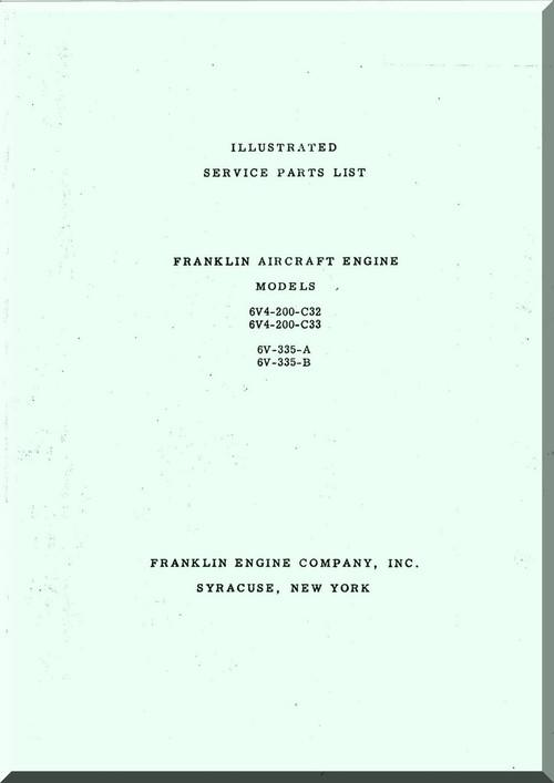 Franklin 6v4 200c32c33 6v 335 ab aircraft engine illustrated image 1 malvernweather Image collections