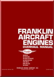 Franklin 6A-335-B,B1 -  6A-350-C,C1,C1A,C2  - 6A-350-D,D1,D1A - 6AS-350-A - 6AS-335-A,B - 4A-235-B   Aircraft Engine  Overhaul   Manual  ( English Language )