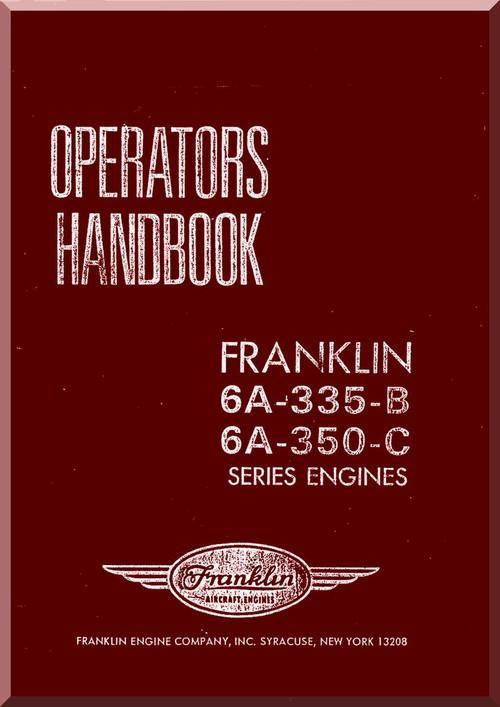 Franklin 6a 335 b 6a 350 c aircraft engine operators handbook image 1 malvernweather Image collections