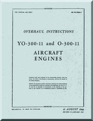 Franklin  YO-300-11 O-300-11  Aircraft Engine  Service Instruction   Manual  ( English Language )