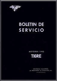 Elzalde Tigre   Aircraft Engine Service Bulletins Manual  (Spanish Language )