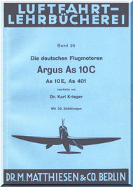 ARGUS  Flugmotor As 10 C   Aircraft Engine Technical  Manual  ( German Language )