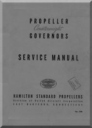 Hamilton Standard Governors Aircraft Propeller Service Manual - 121B
