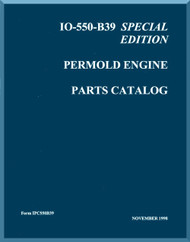 Continental IO-550 B39 Aircraft Engine Illustrated Parts Breakdown Manual  ( English Language ) Form IPC 550B39, 1998
