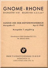 Rhone Gnome Type 14M Notice Technique  Baureihen 2, 5, 6, and 7  ( German Language )