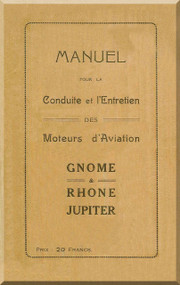 Rhone Gnome Jupiter Operating Manual ( French Language )