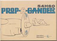 Hamilton Standard  Aircraft Propeller Prop A Gander Manual - 54H60