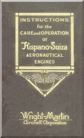 Wright Hispano Suiza 8 150 Aircraft Engine Maintenance Manual Instruction Book  ( French Language )