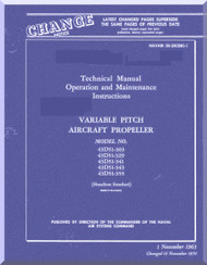 Hamilton Standard  Aircraft Propeller Variable Pitch Maintenance Manual