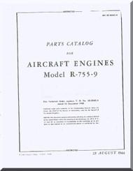 Jacobs R-755-9  Aircraft Engine Parts Catalog Manual  ( English Language )
