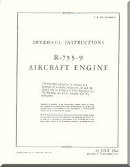 Jacobs R-755-9  Aircraft Engine Overhaul Manual  ( English Language )