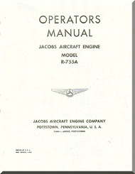 Jacobs R-755 A  Aircraft Engine Operator Manual  ( English Language )