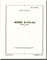 Jacobs R-755 A2  Aircraft Engine Parts Catalog Manual  ( English Language )