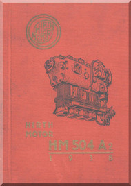 Hirth Motoren   HM 504 A-2  Engine Technical  Manual  (German Language ) - 1932