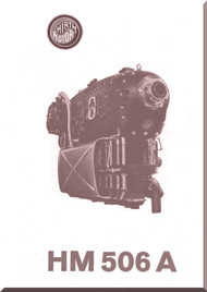 Hirth Motor HM 506 A  Aircraft Engine Technical  Manual  ( German Language )  Prospekt