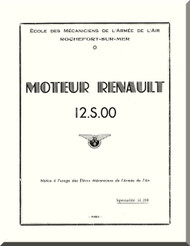 Renault 12 T 04-06  Aircraft Engine  Technical Manual  ( French Language )  - Text  1956