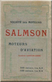 Salmson A9 R9 Aircraft  Aero Engine Technical Manual   (French Language )