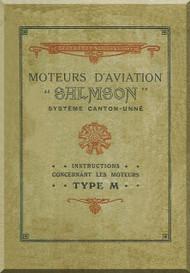 Salmson M 7 M 9 Aircraft  Aero Engine Technical Manual   (French Language )