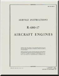 Lycoming R-680 -17 Aircraft Engine Service Manual  ( English Language )