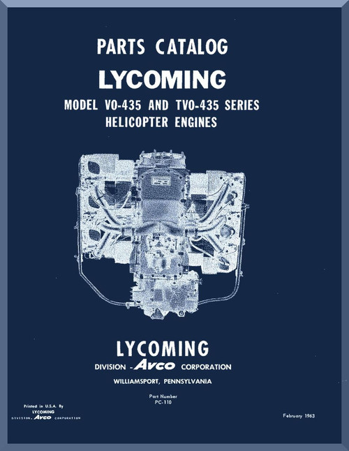 Lycoming vo 4350 series and tvo 435 helicopter engine parts manual image 1 sciox Gallery