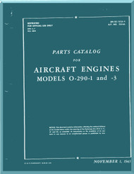 Lycoming O-290-1, -3 Aircraft Engine Part Catalog Manual  ( English Language ) ,  T.O. 02-15CA-4 , 1943