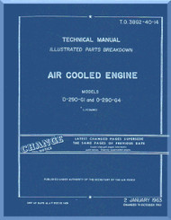 Lycoming O-290-G1 and O-290-G4 Aircraft Engine  Illustrated Part Breakdown Manual  ( English Language ) ,  T.O. 38G2-40-14 , 1957