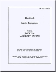 Westinghouse J34-WE-36  Aircraft Engine Service  Manual  ( English Language )