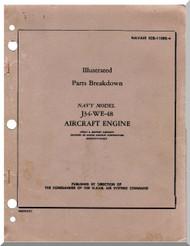 Westinghouse J34-WE-48  Aircraft Engine Illustrated Parts   Manual  ( English Language )