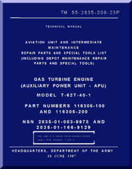 Solar T-62T-40-1; Technical Manual Aviation Unit and Intermediate Maintenance Repair Parts and Special Tools List;  Dated 18 June 1987; TM 55-2835-208-23P