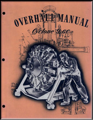 Wright R-1820 Cyclone 9 CC  Aircraft Engine Overhaul Manual  ( English Language )