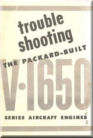 Rolls Royce Merlin V-1650-1  Trouble Shooting Manual  ( English Language ) - 1943 -